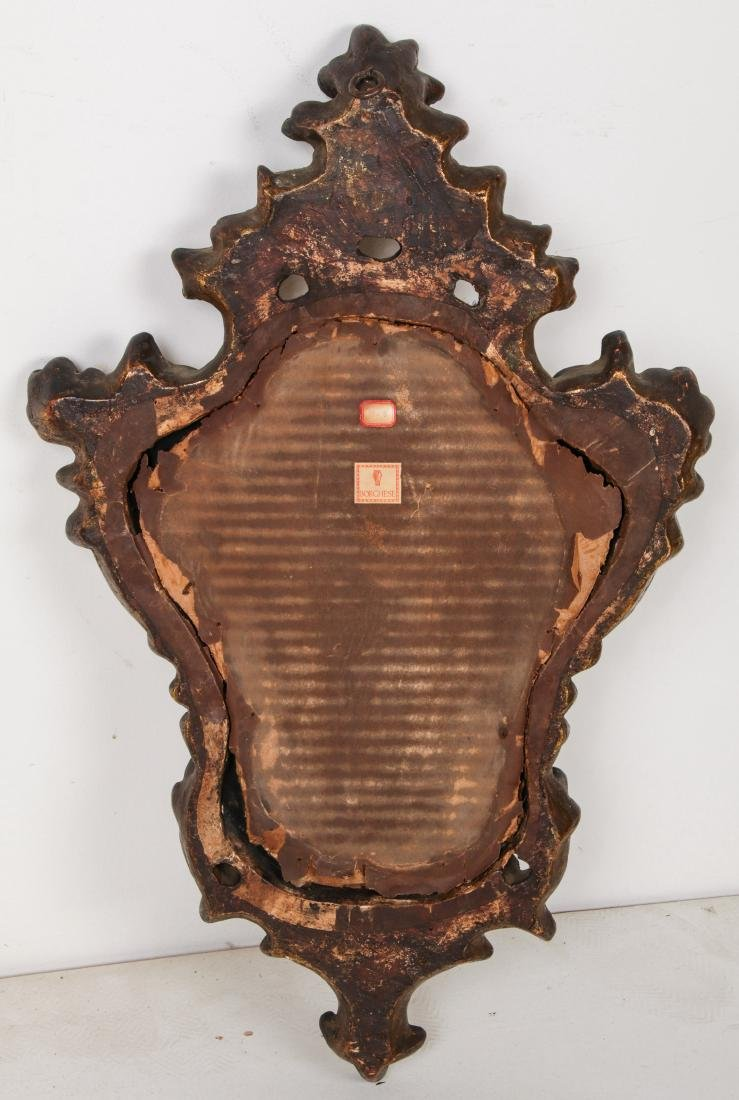 Pair of Carved Wood Mirrors - 6