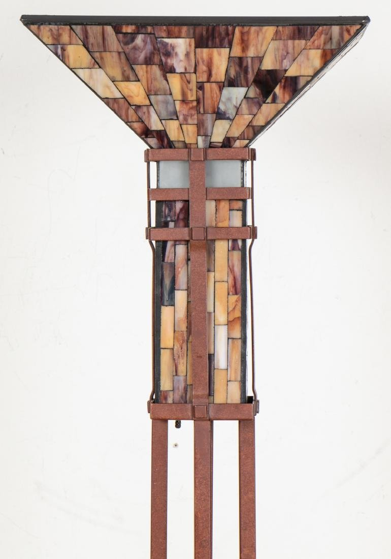 Floor Lamp with Mosaic Glass Shade - 2