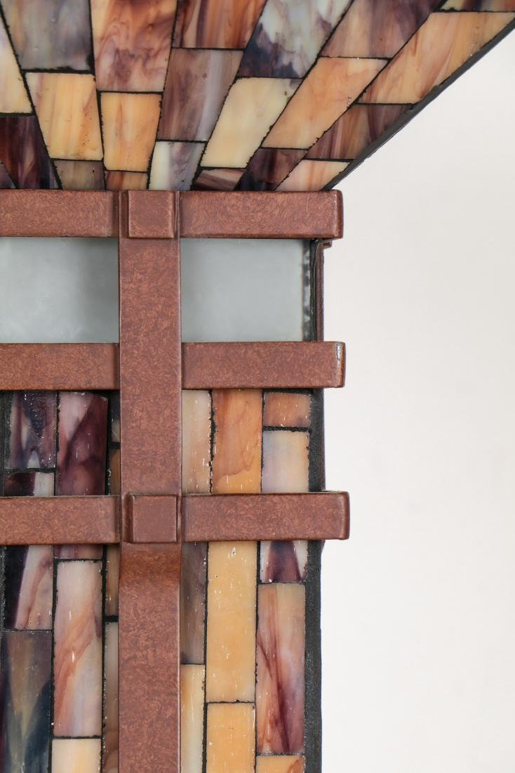 Floor Lamp with Mosaic Glass Shade - 3