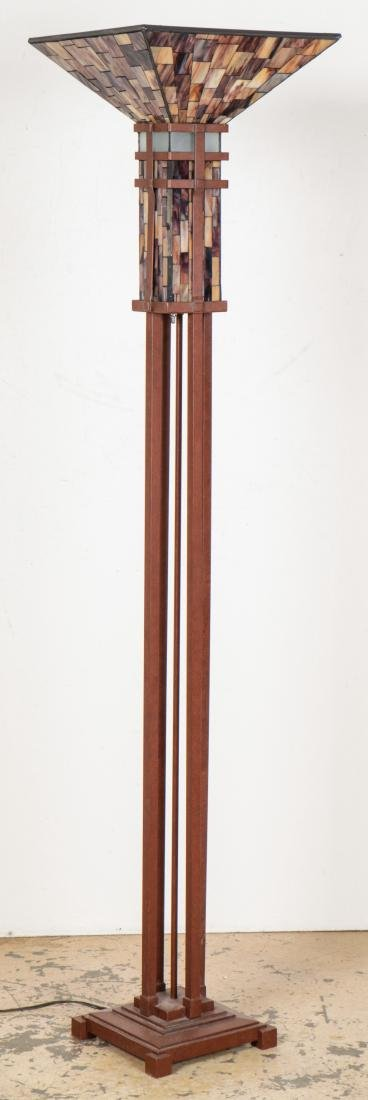 Floor Lamp with Mosaic Glass Shade - 5