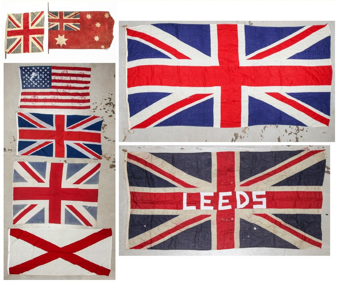 Collection of Vintage Flags (8)