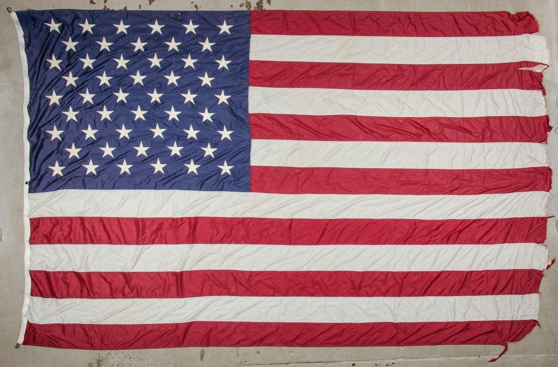 3 Large Vintage American Flags - 2