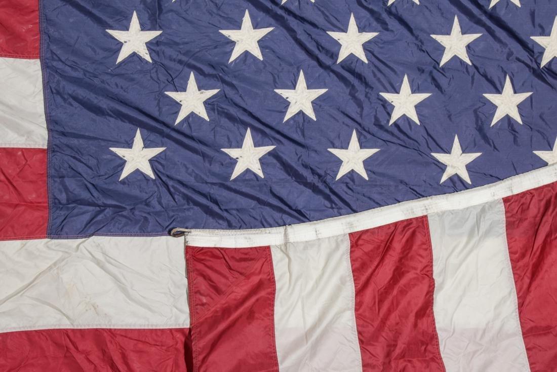 3 Large Vintage American Flags - 3