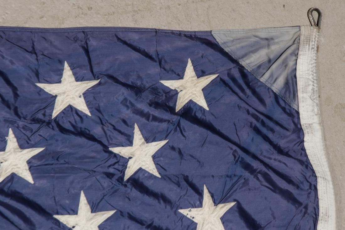 3 Large Vintage American Flags - 4