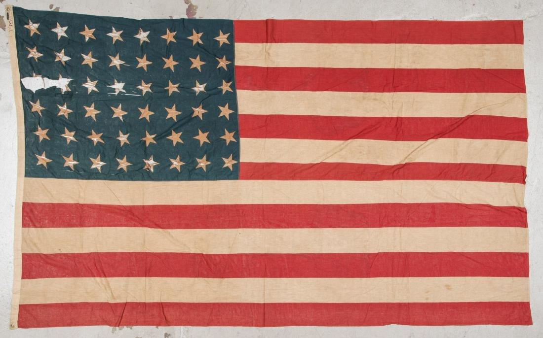 3 Large Vintage American Flags - 8