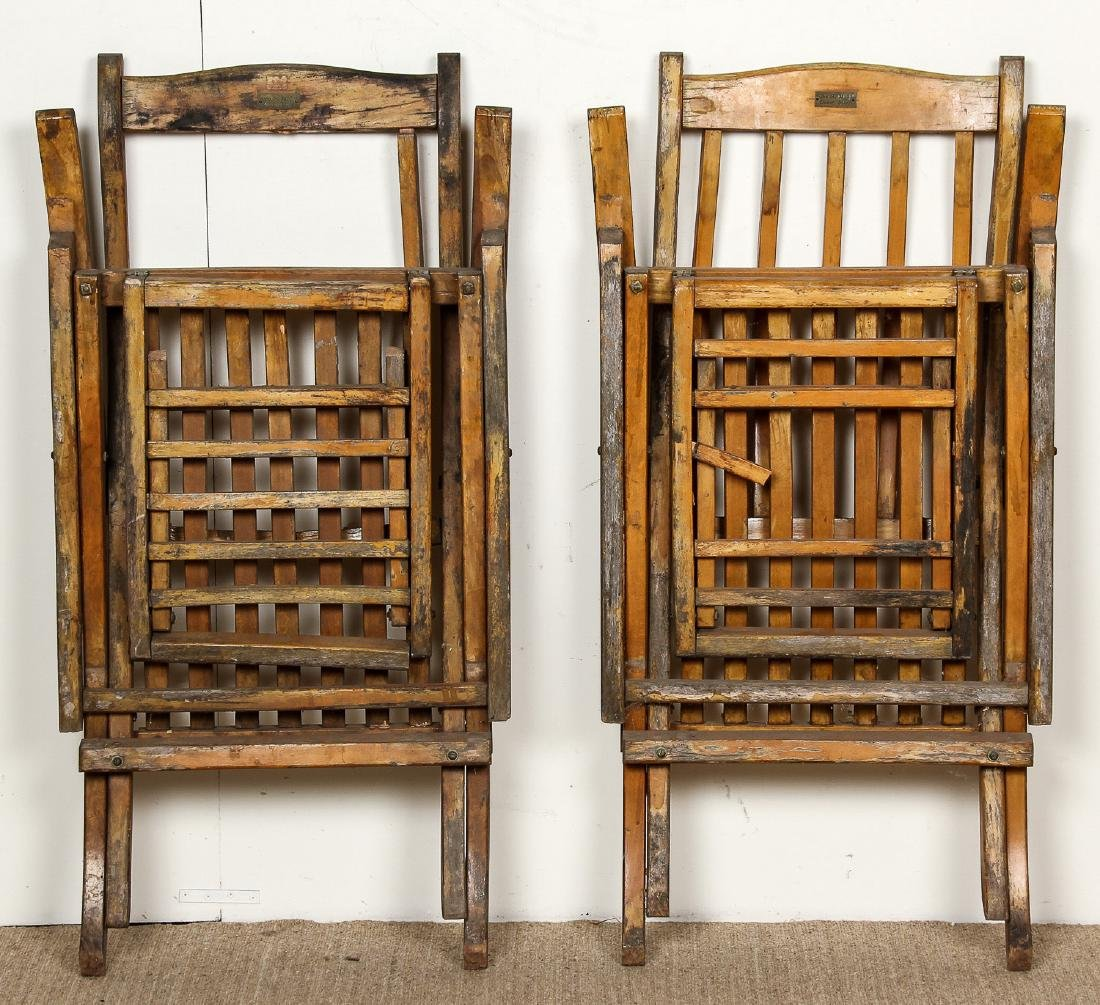 2 Deck Chairs from the RMS Queen Mary Ocean Liner - 8