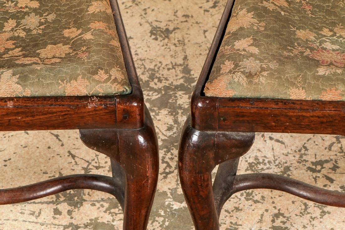 Pair of Antique English Queen Ann Side Chairs - 2