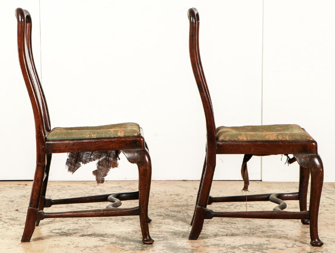 Pair of Antique English Queen Ann Side Chairs - 3