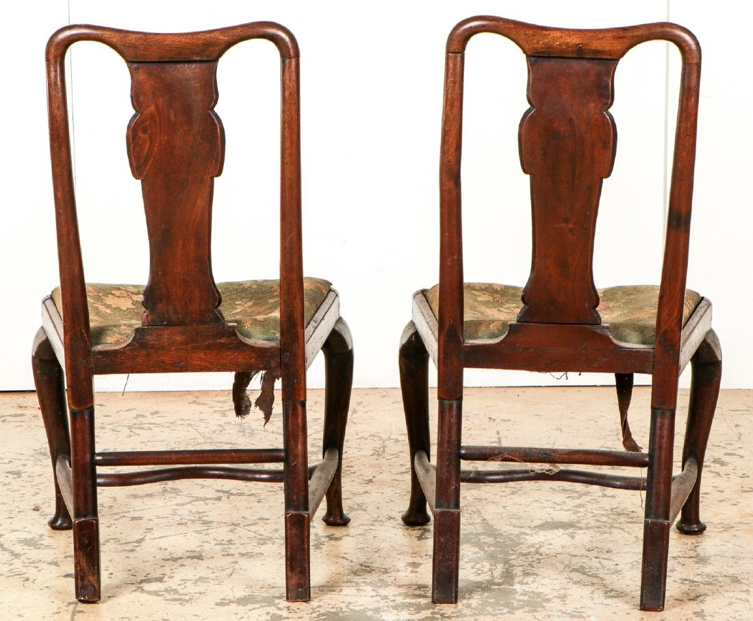 Pair of Antique English Queen Ann Side Chairs - 4