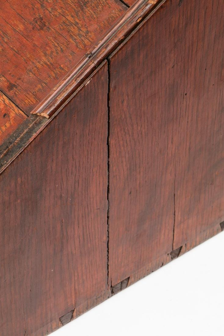 Early American Laptop Desk w. Compartments & Drawers - 6