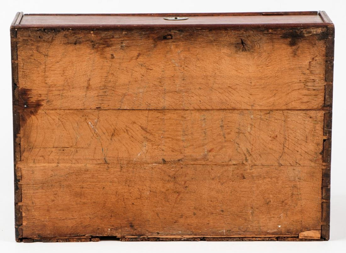 Early American Laptop Desk w. Compartments & Drawers - 9