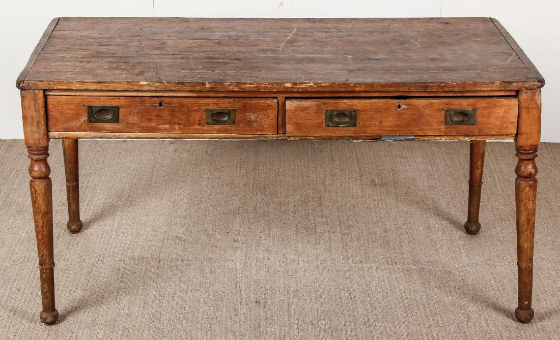 Antique Campaign Table, Ex. Calvin Klein, Ca. 1700's