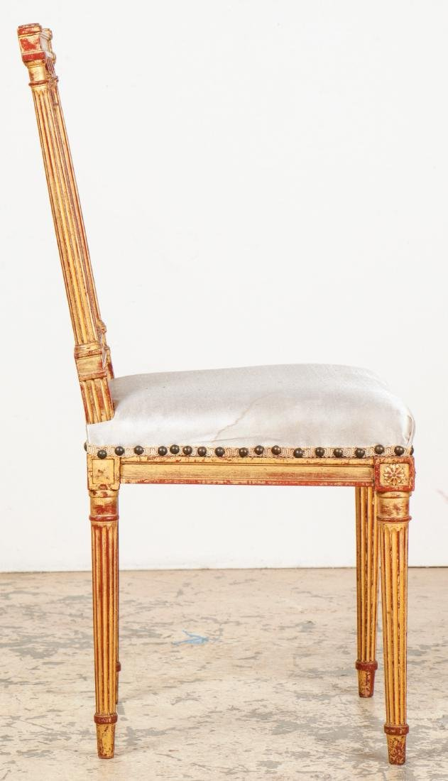 4 Louis XVI Style Gilt Chairs - 3
