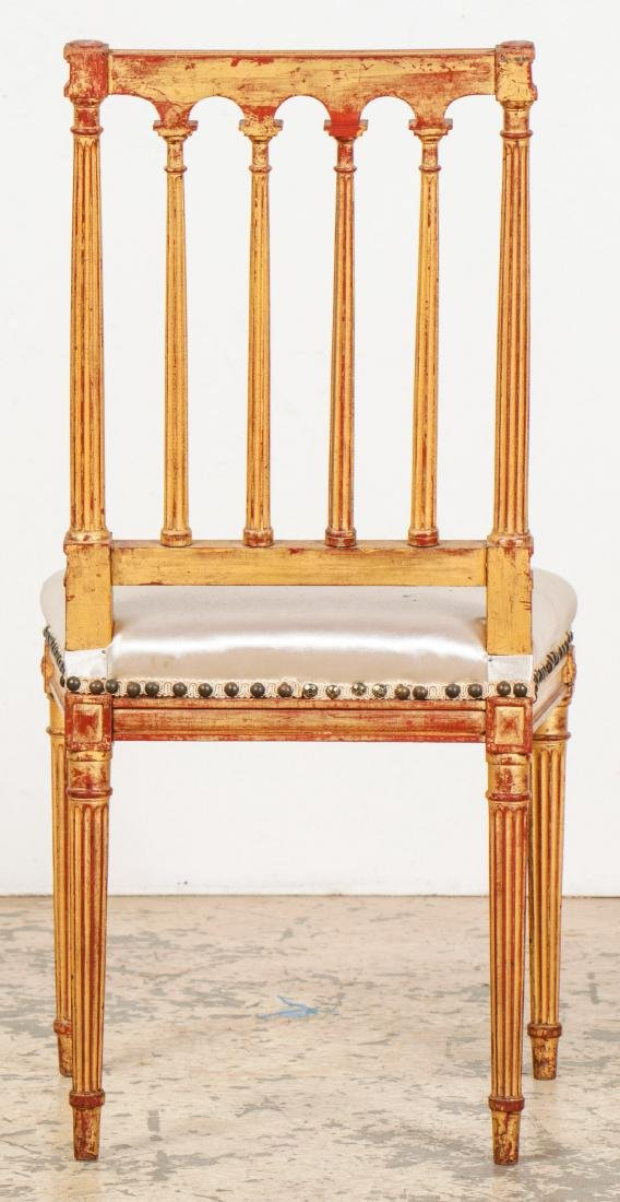 4 Louis XVI Style Gilt Chairs - 4