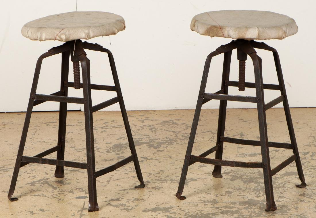 Pair of Vintage Industrial Stools