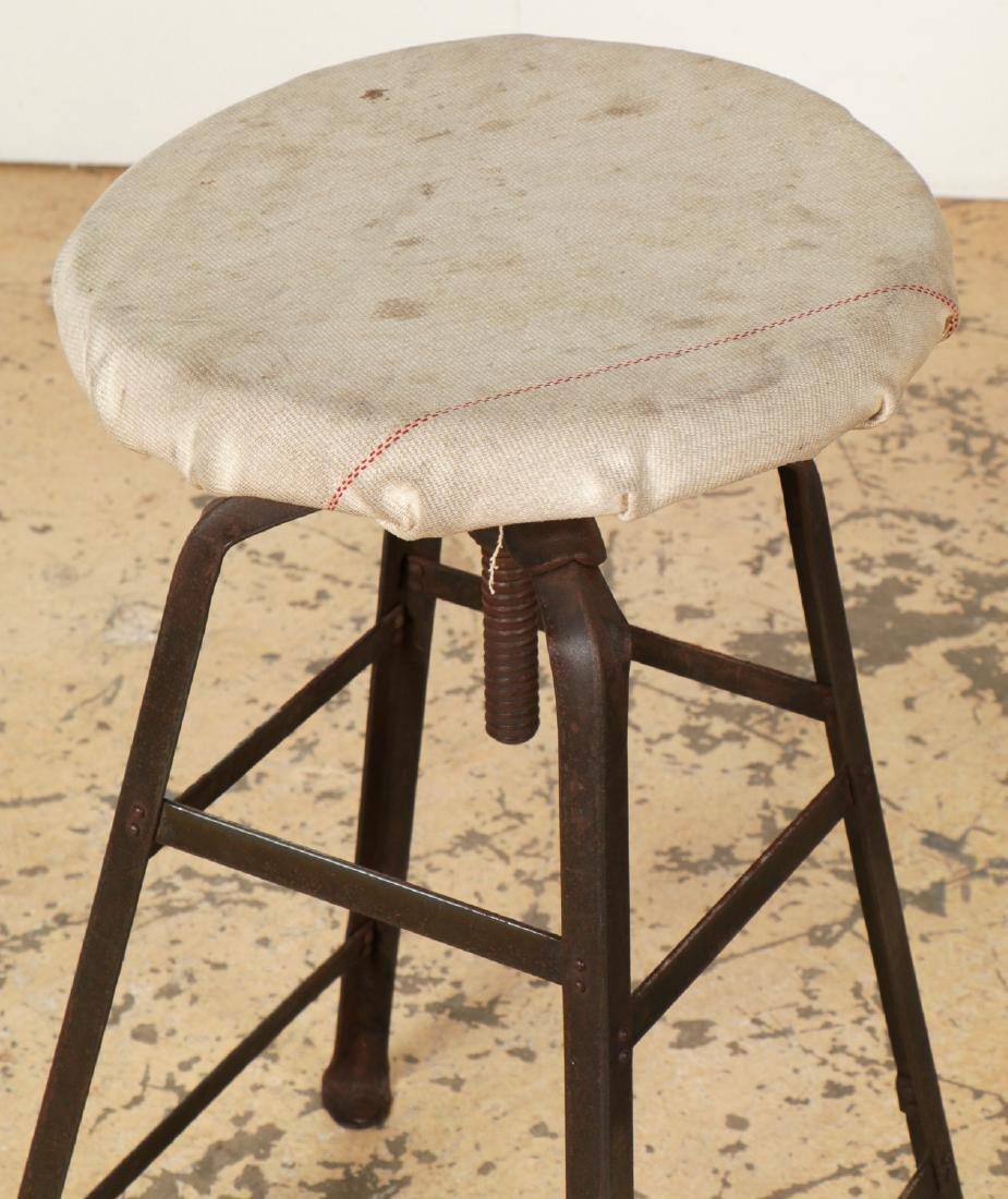 Pair of Vintage Industrial Stools - 3