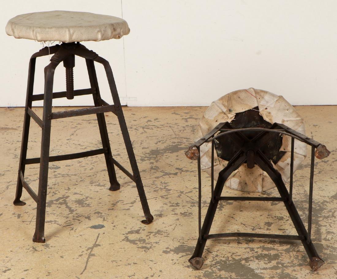Pair of Vintage Industrial Stools - 4