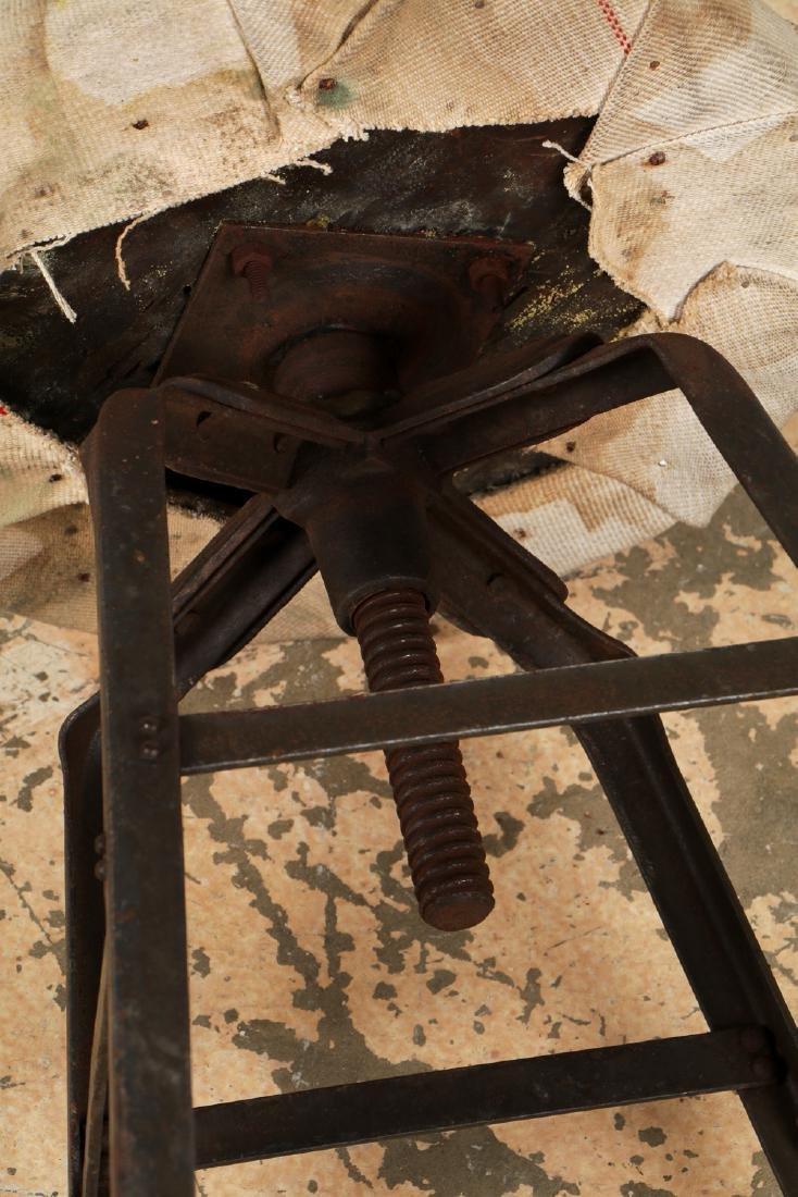 Pair of Vintage Industrial Stools - 5