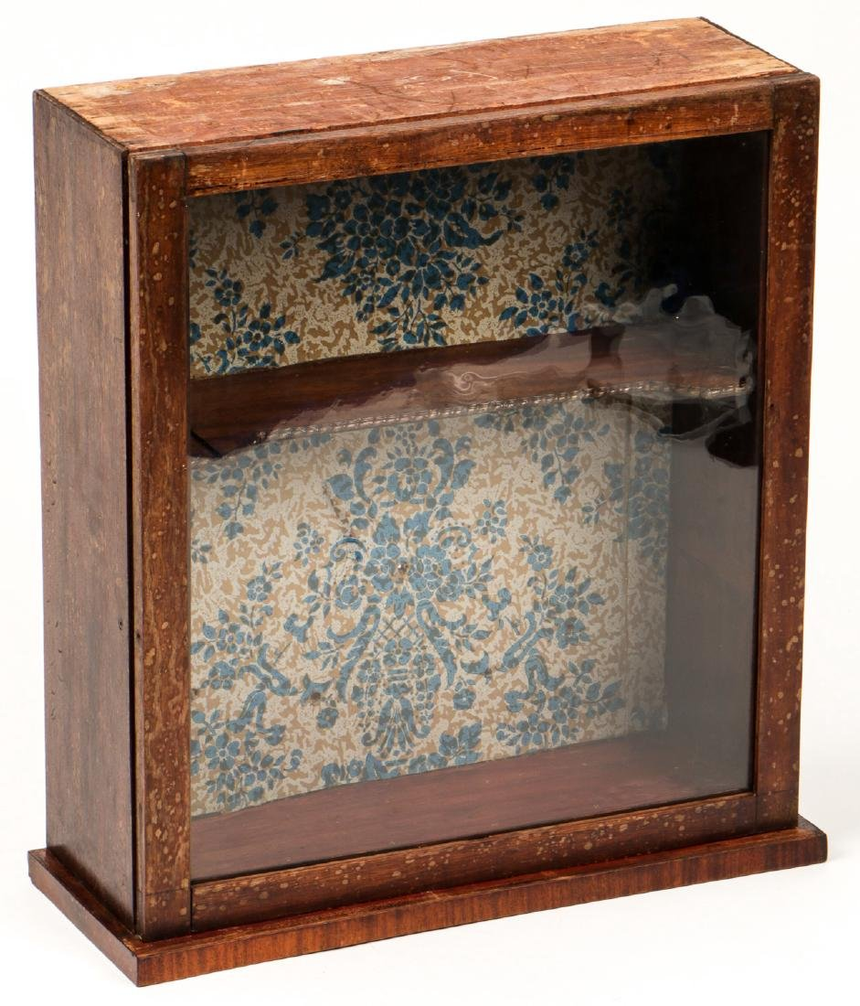 Antique English Mahogany Wall Cabinet
