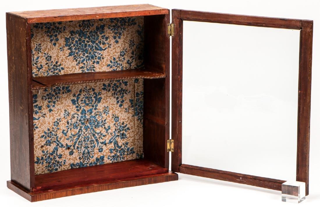 Antique English Mahogany Wall Cabinet - 2