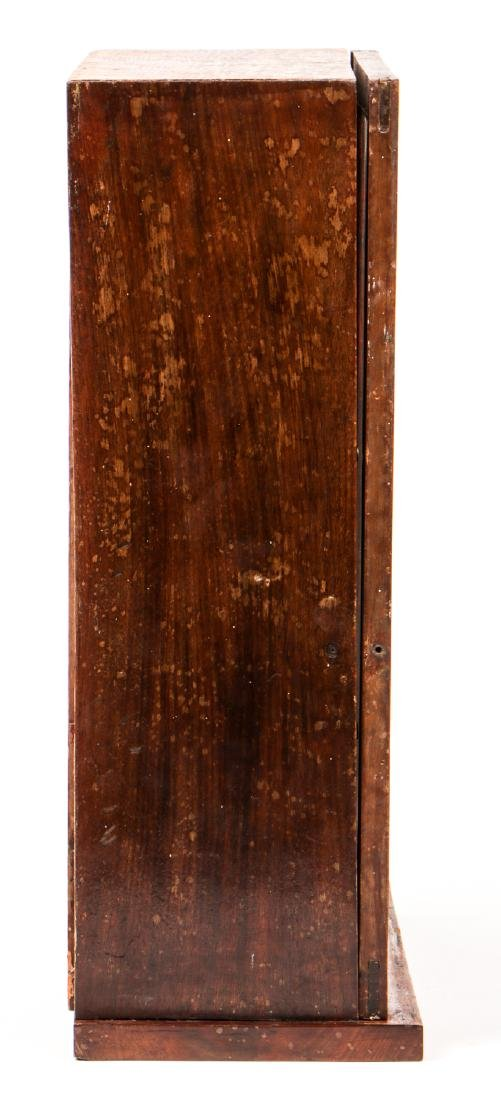 Antique English Mahogany Wall Cabinet - 3