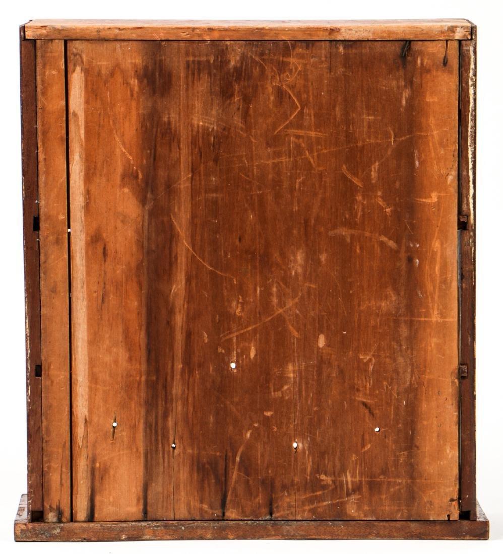 Antique English Mahogany Wall Cabinet - 4