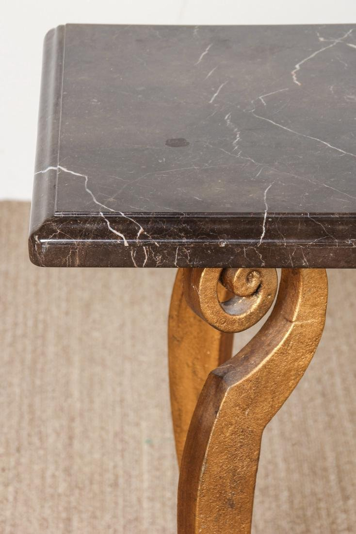 Brass and Marble Top Side Table - 3