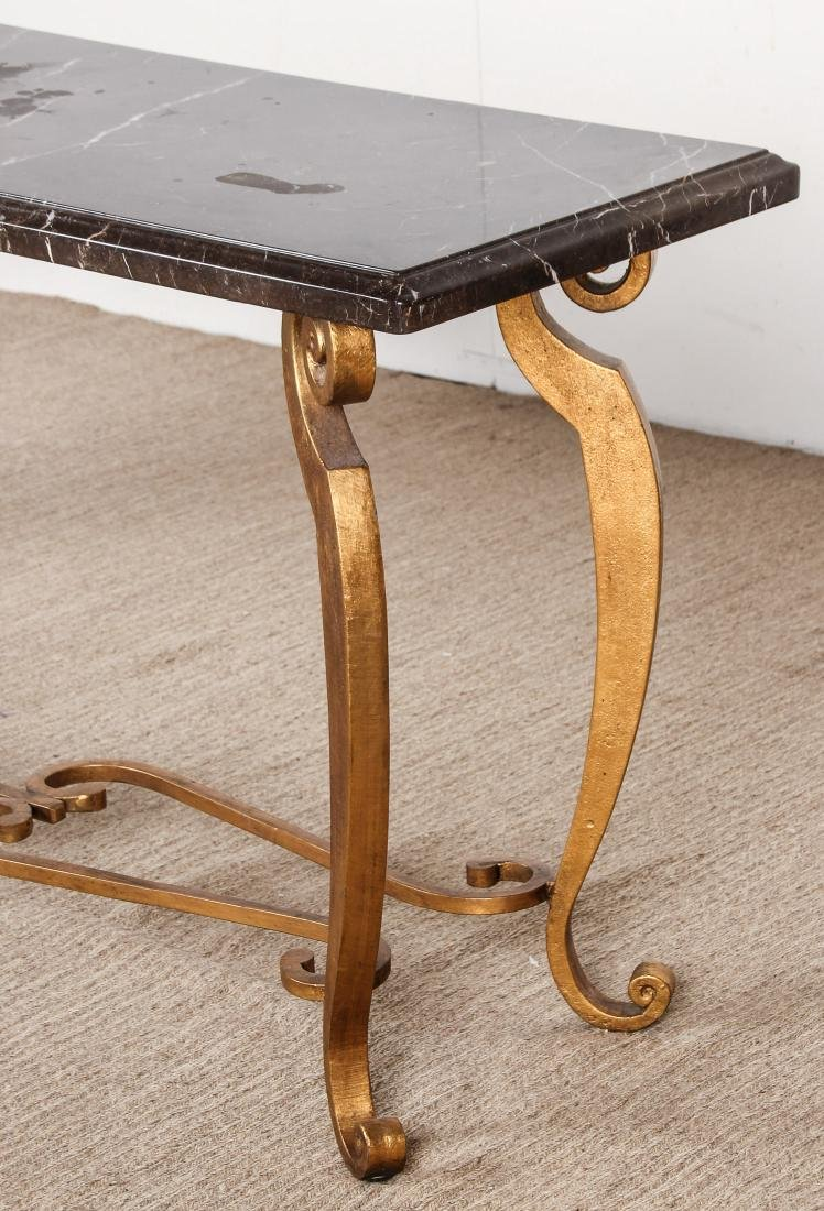 Brass and Marble Top Side Table - 4