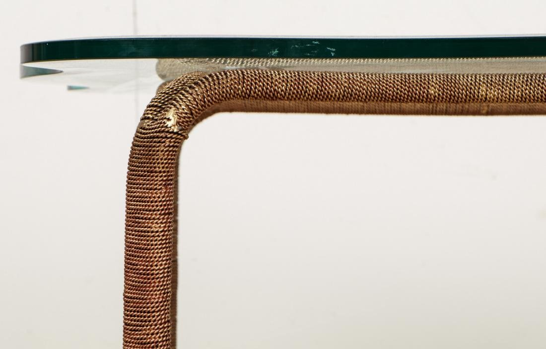 A Stark Ribbon Coffee Table with Glass Top - 3
