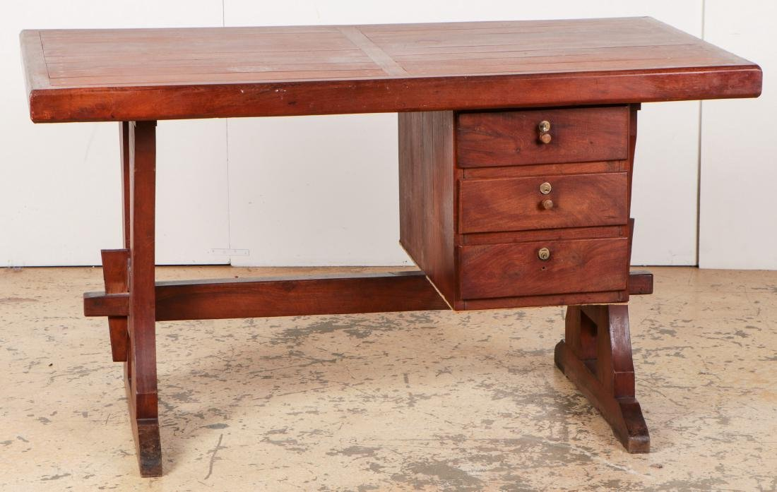 Modern/Vintage Artisan-Made Desk w. Drawers