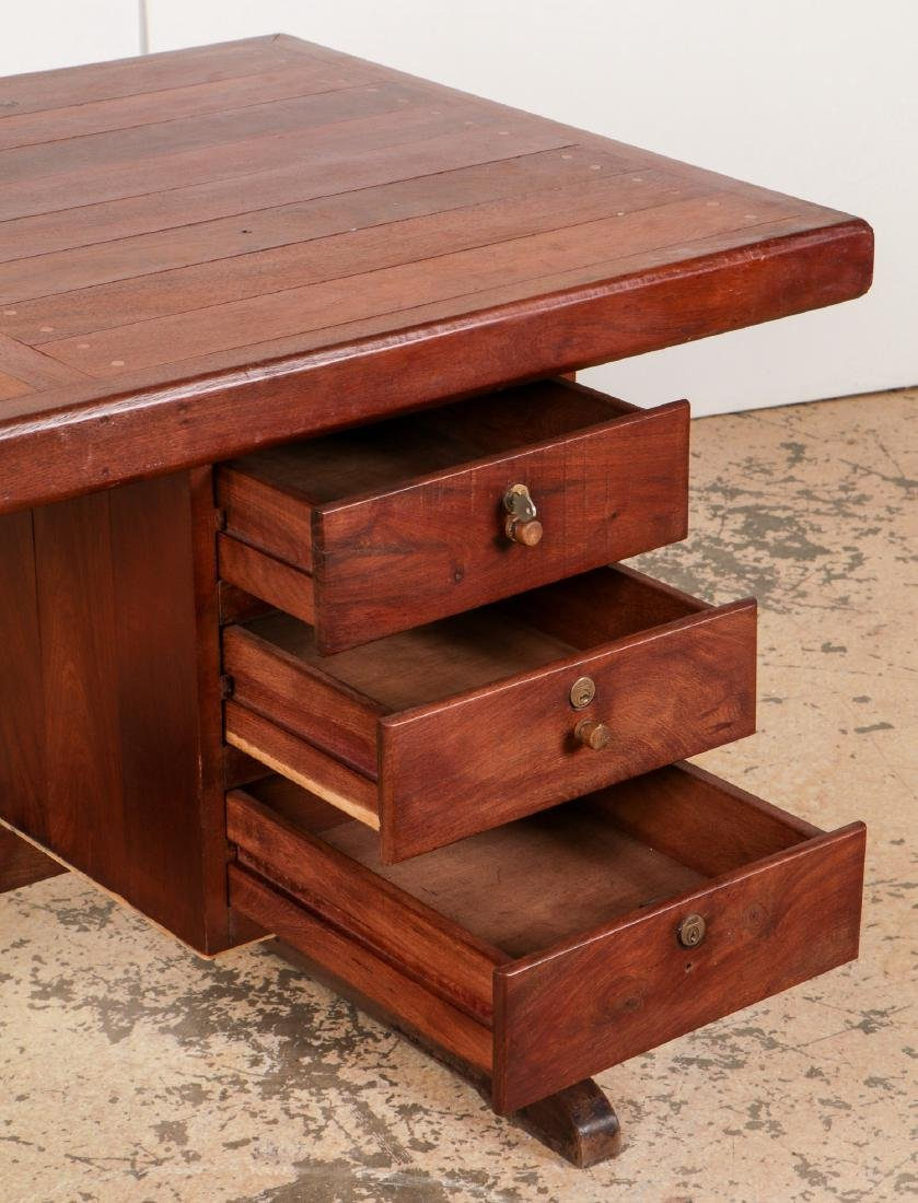 Modern/Vintage Artisan-Made Desk w. Drawers - 3