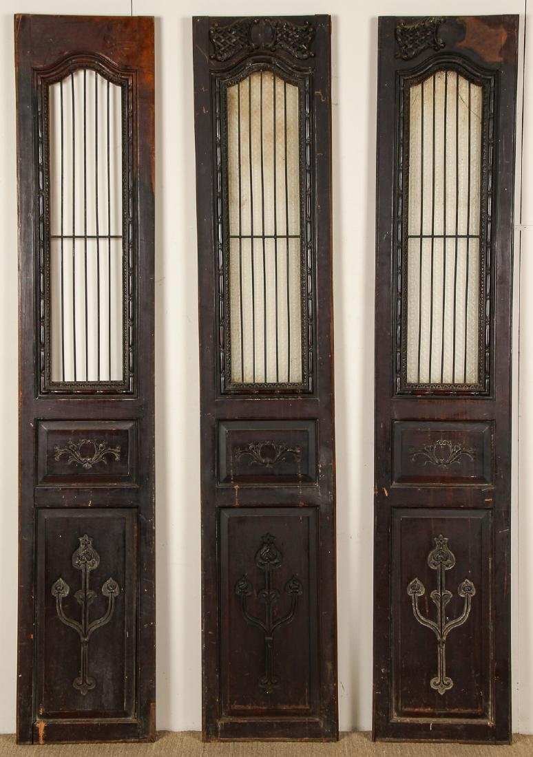 3 Antique Colonial Indochine Wood Doors, Vietnam