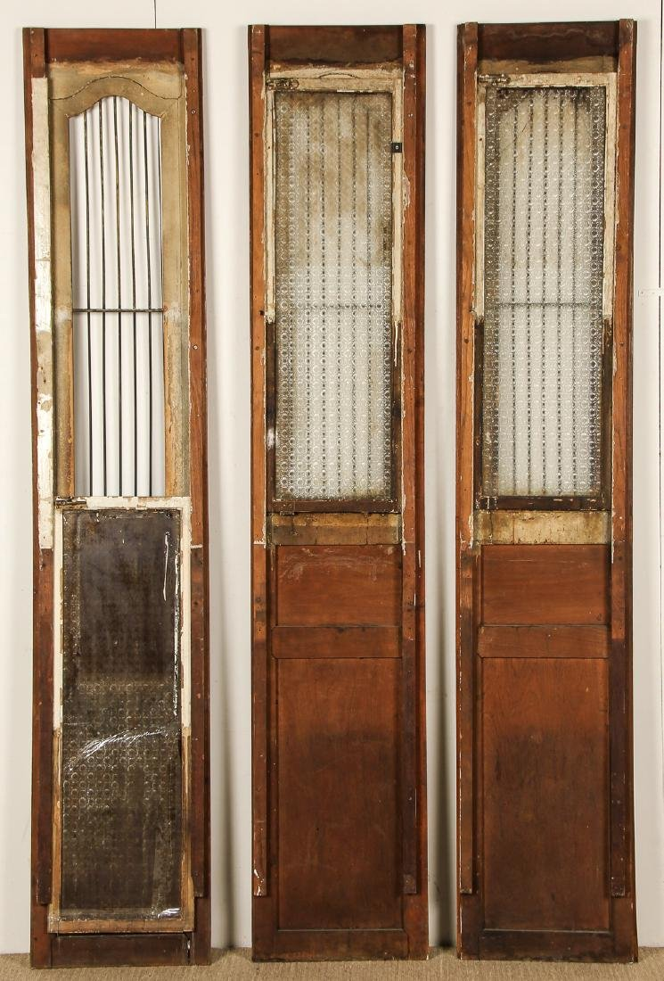 3 Antique Colonial Indochine Wood Doors, Vietnam - 5