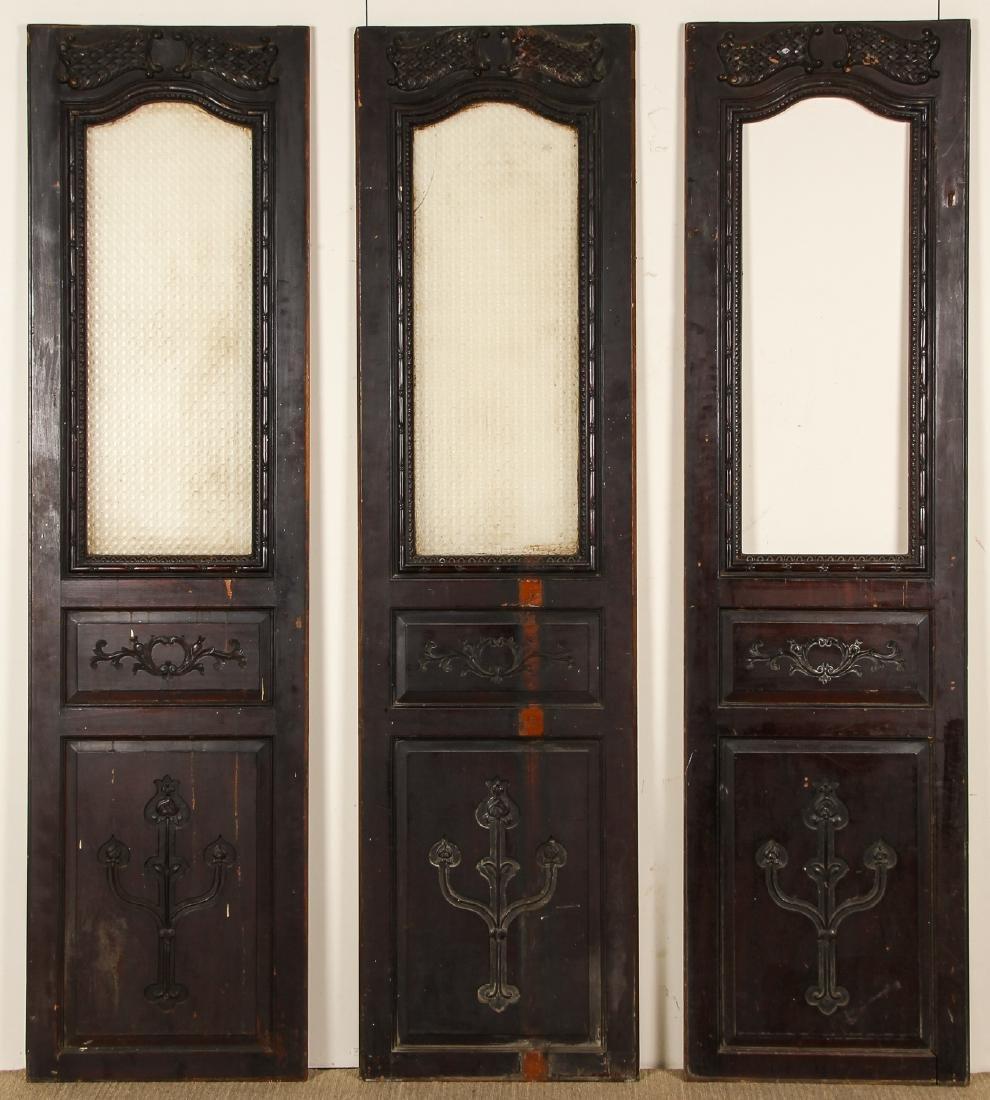 3 Antique Colonial Indochine Wood Doors, Vietnam