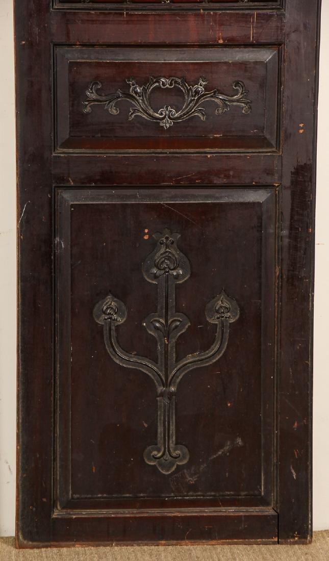 3 Antique Colonial Indochine Wood Doors, Vietnam - 2