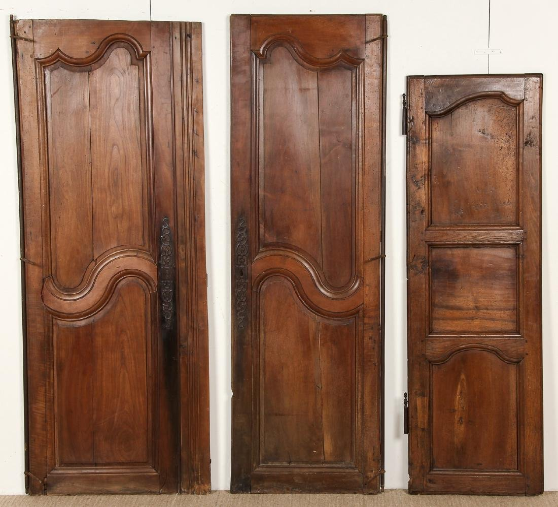 3 18th Century French Walnut Armoire Doors