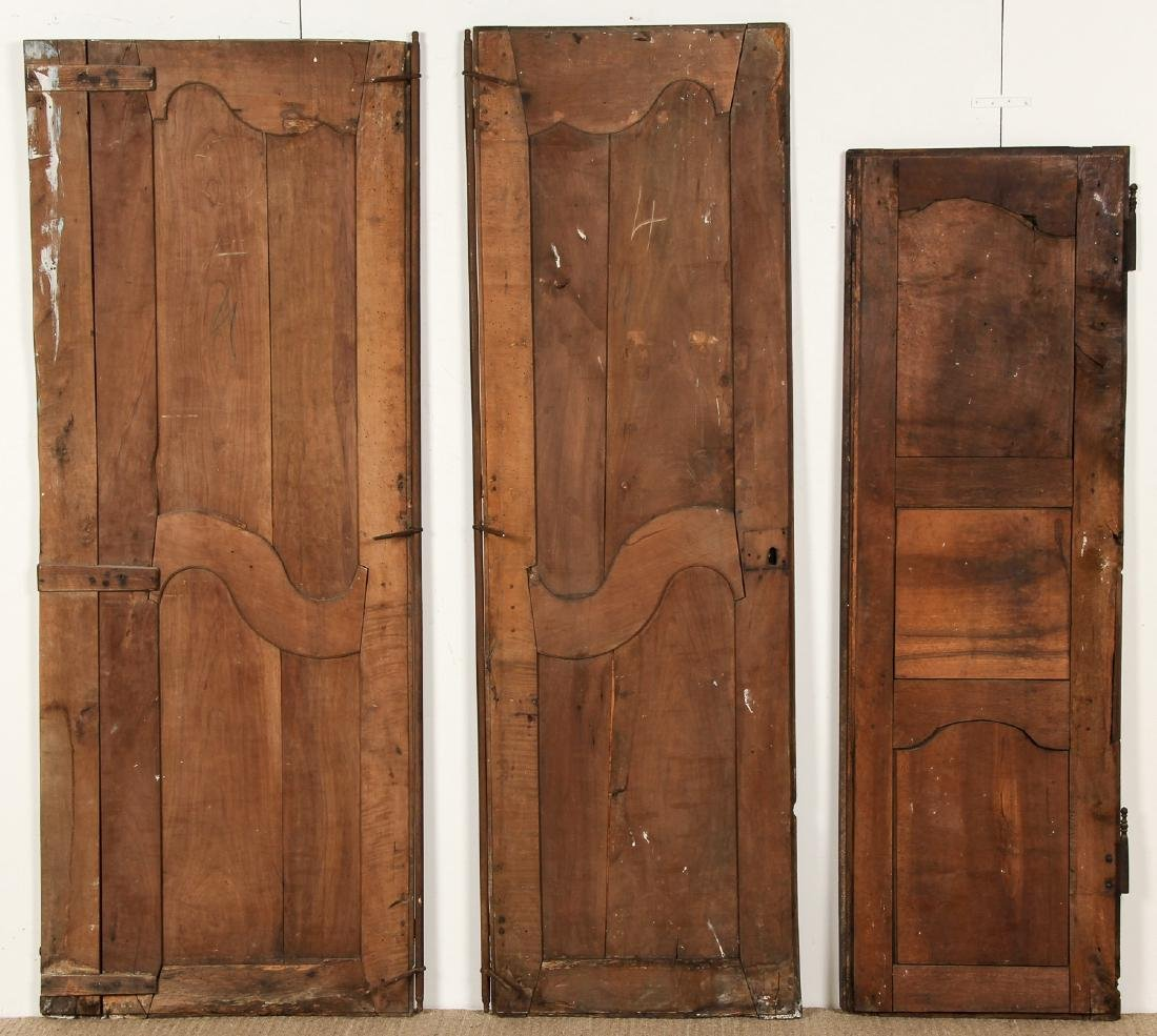 3 18th Century French Walnut Armoire Doors - 6