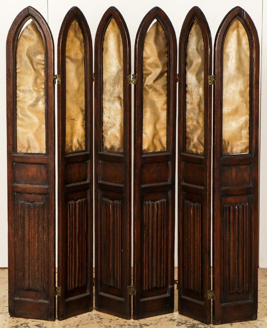 Antique Gothic Wood Screen