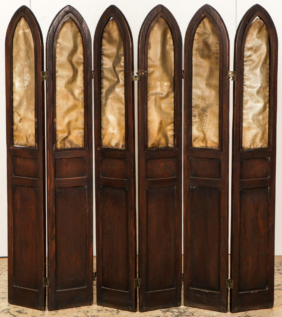 Antique Gothic Wood Screen - 4