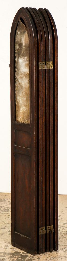 Antique Gothic Wood Screen - 7