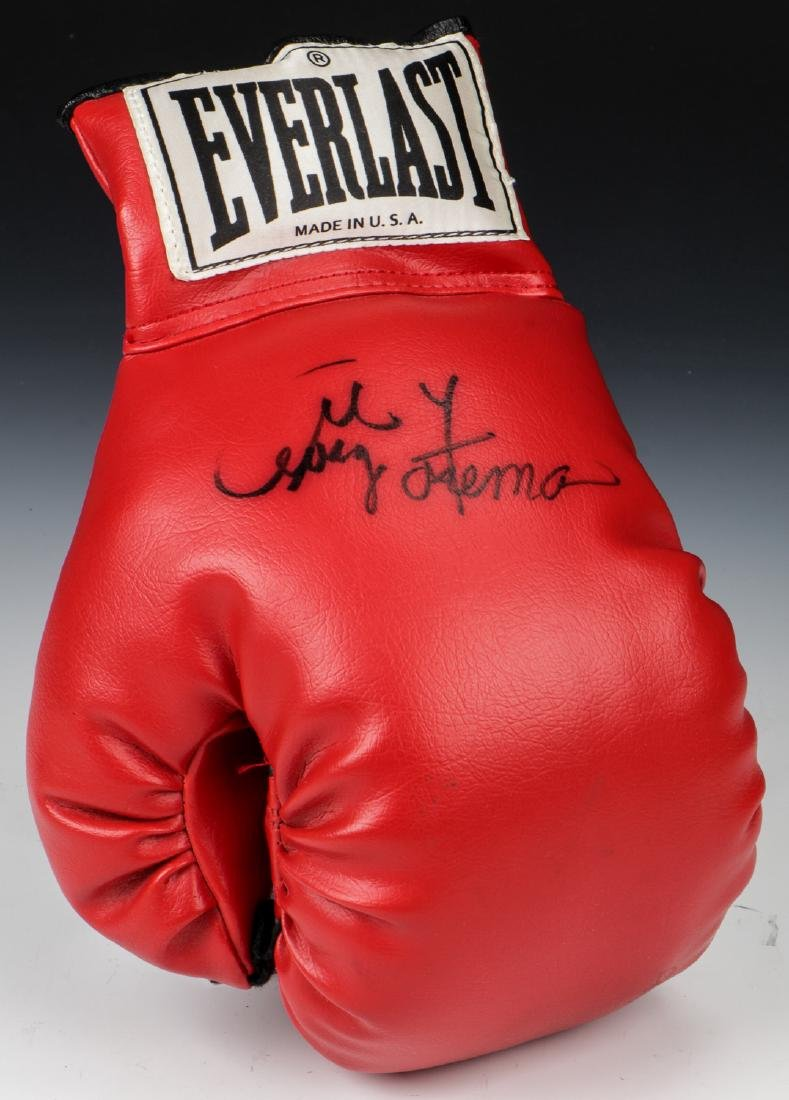 George Forman Signed Boxing Glove