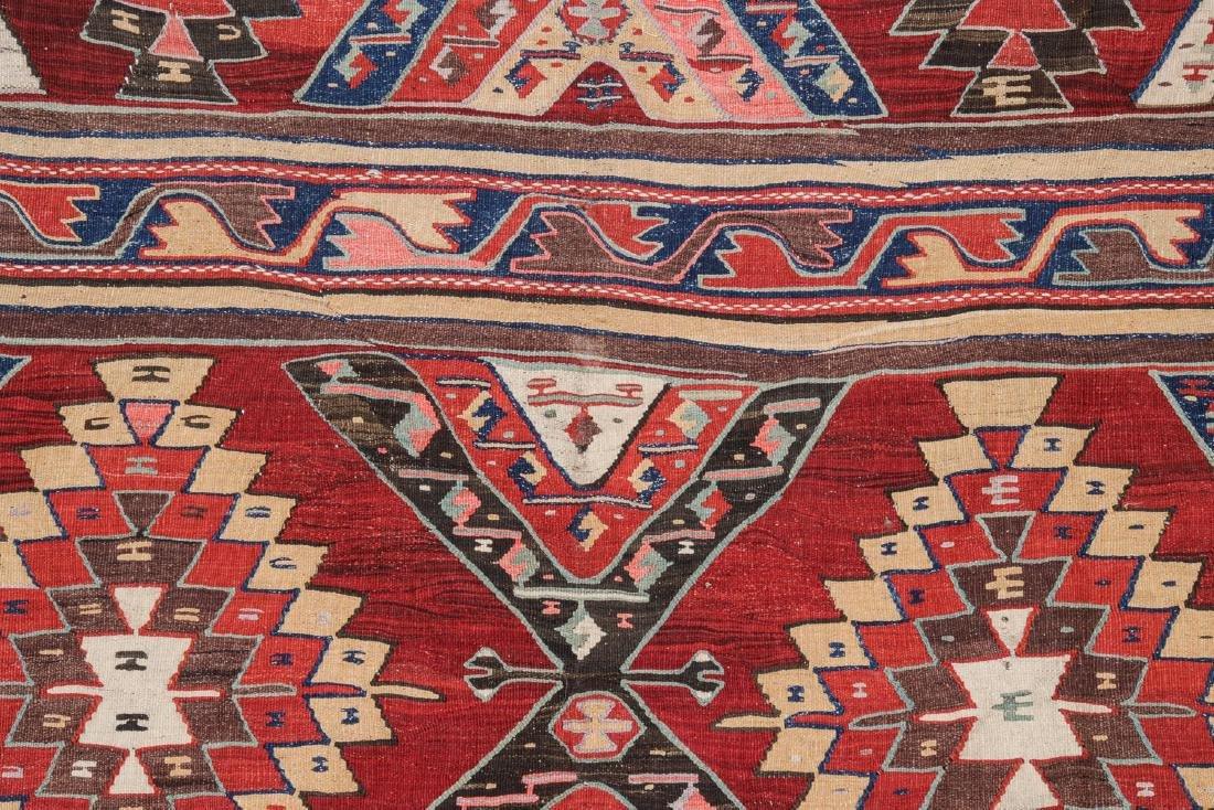 Antique Turkish Kilim: 5'4'' x 13'9'' (163 x 419 cm) - 2