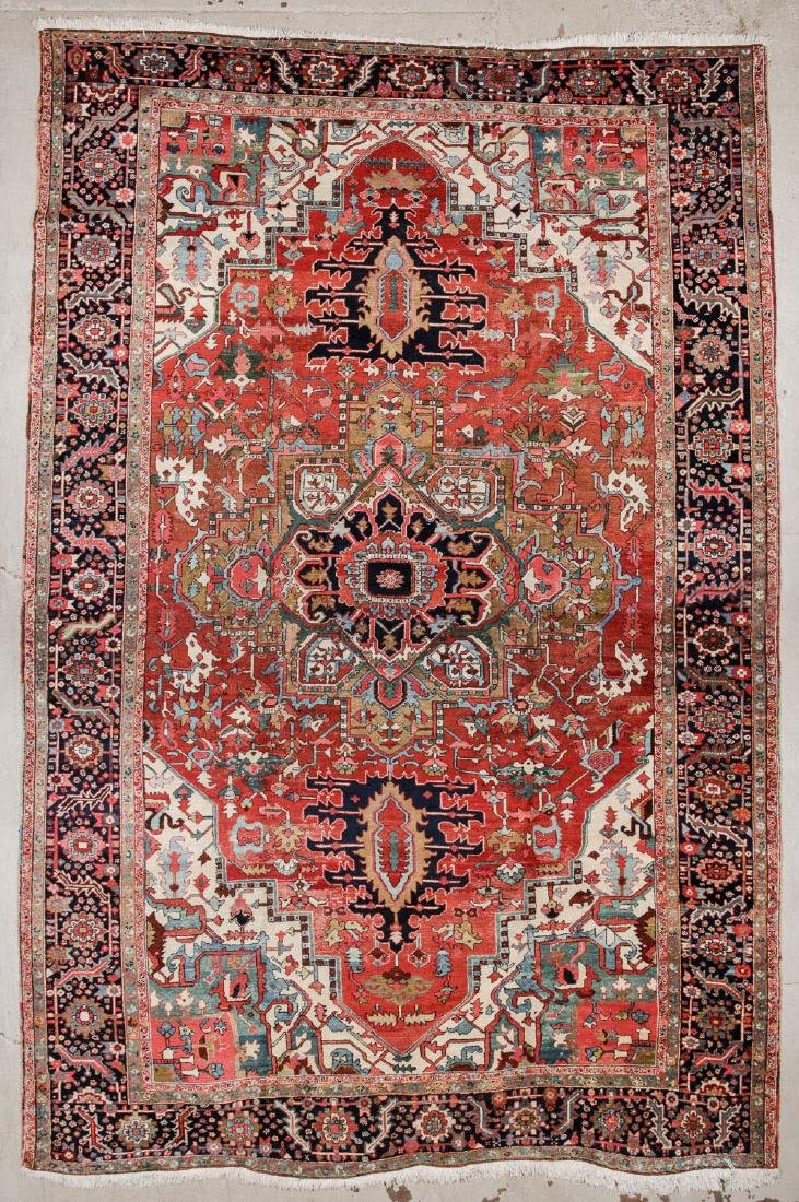 Antique Mansion-Size Heriz Rug: 11'5'' x 17'3''