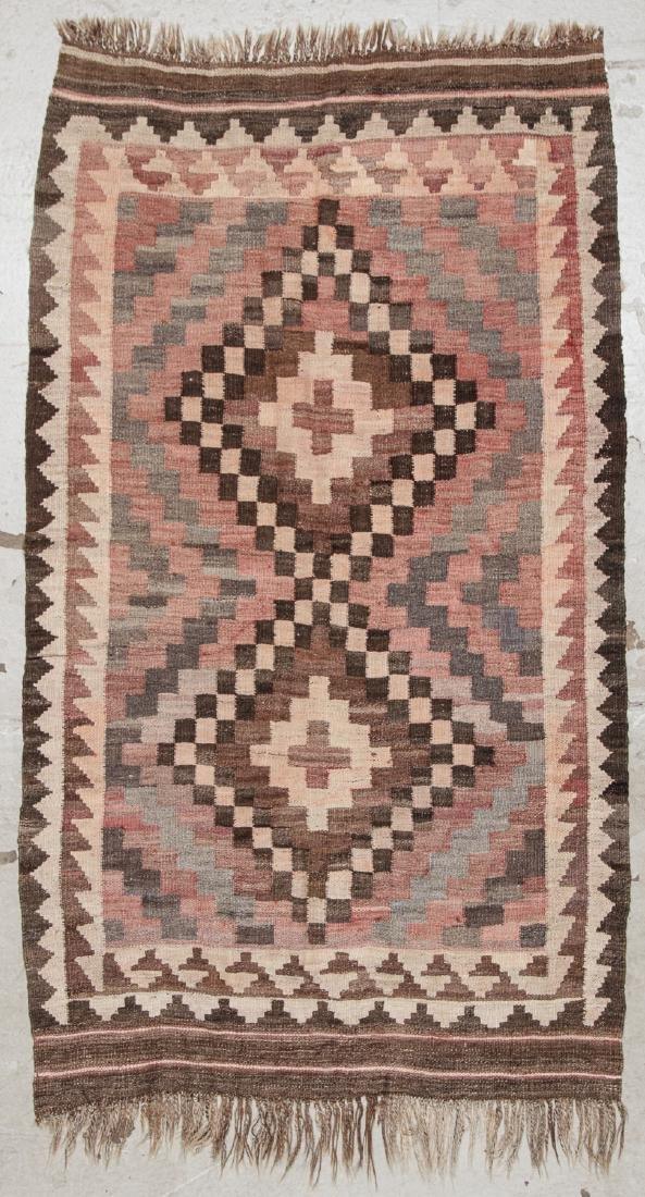 2 Old Afghan Maimana Kilims - 10