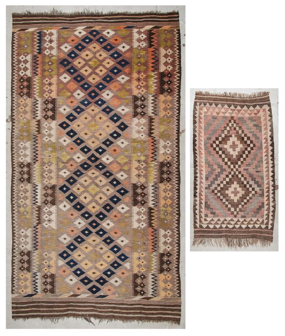 2 Old Afghan Maimana Kilims