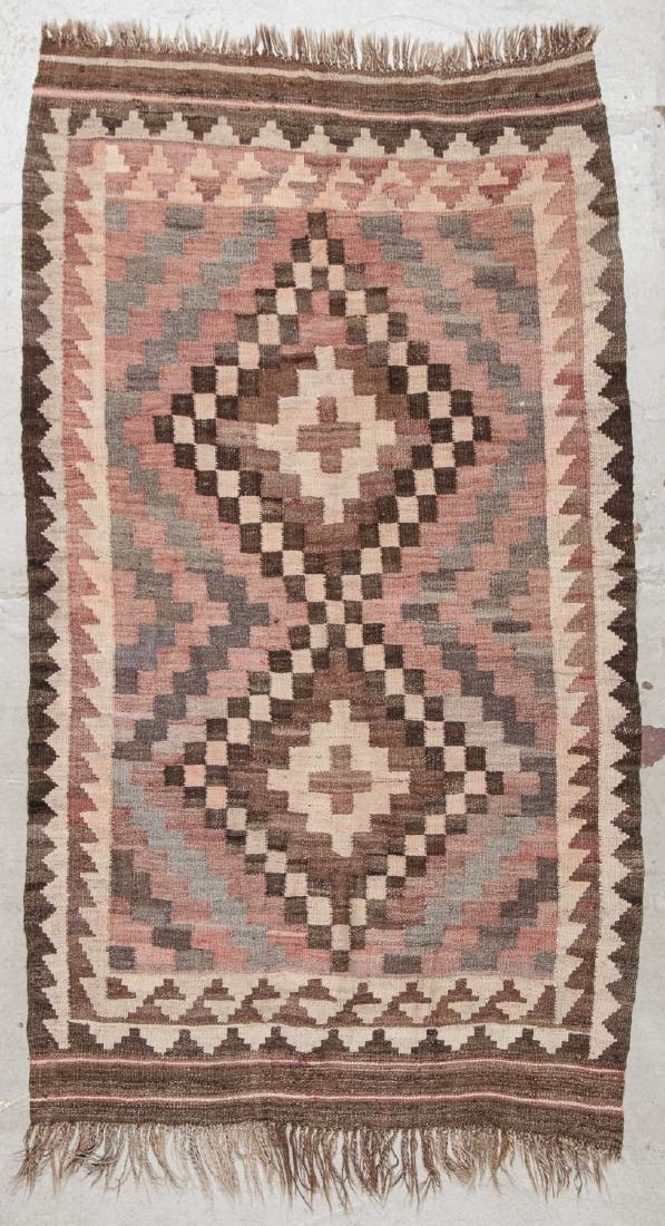 2 Old Afghan Maimana Kilims - 6