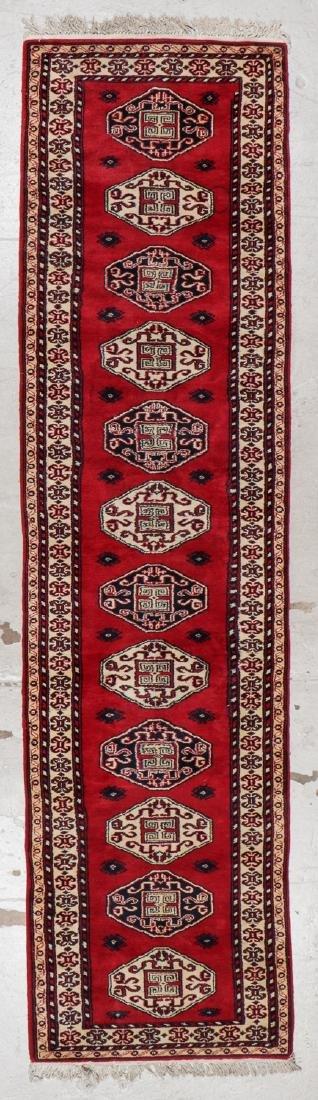 Vintage Caucasian Style Rug: 2'8'' x 10'4'' (81 x 315