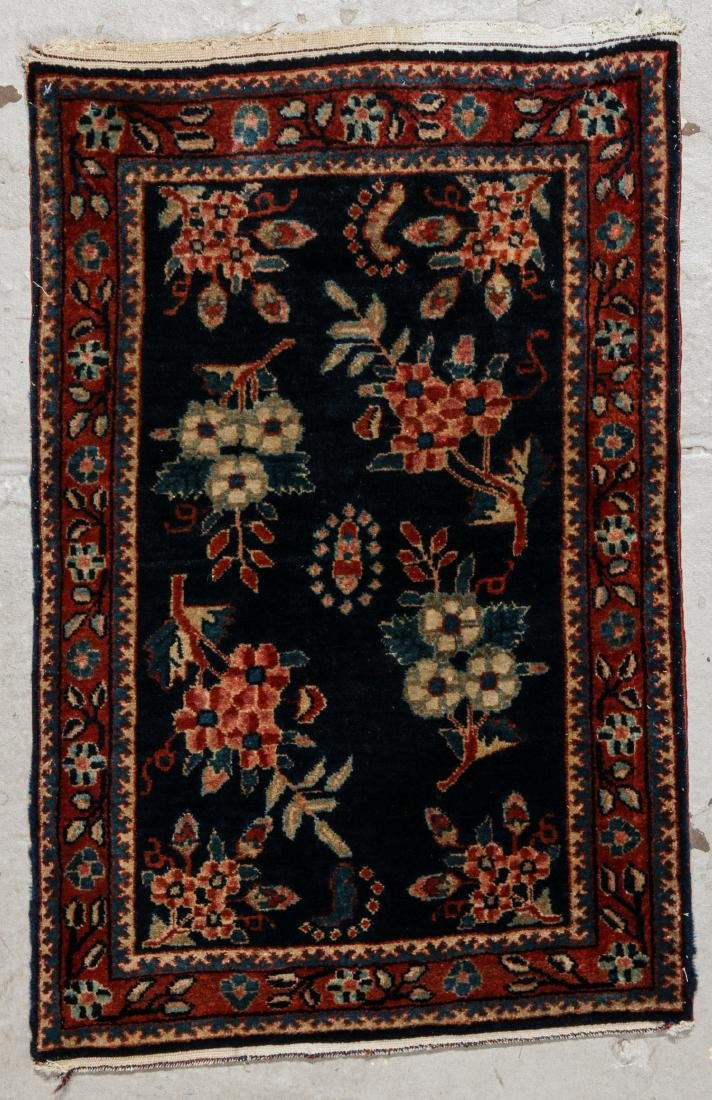 West Persian Floral Rug: 1'8'' x 2'8'' (51 x 81 cm)
