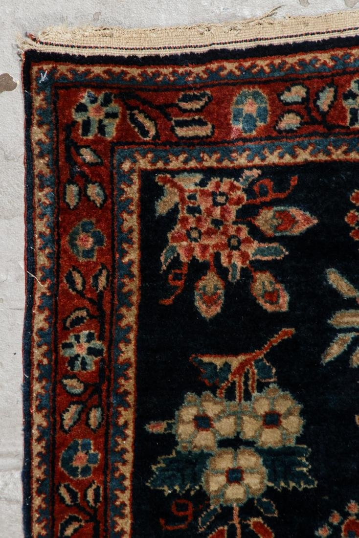 West Persian Floral Rug: 1'8'' x 2'8'' (51 x 81 cm) - 2