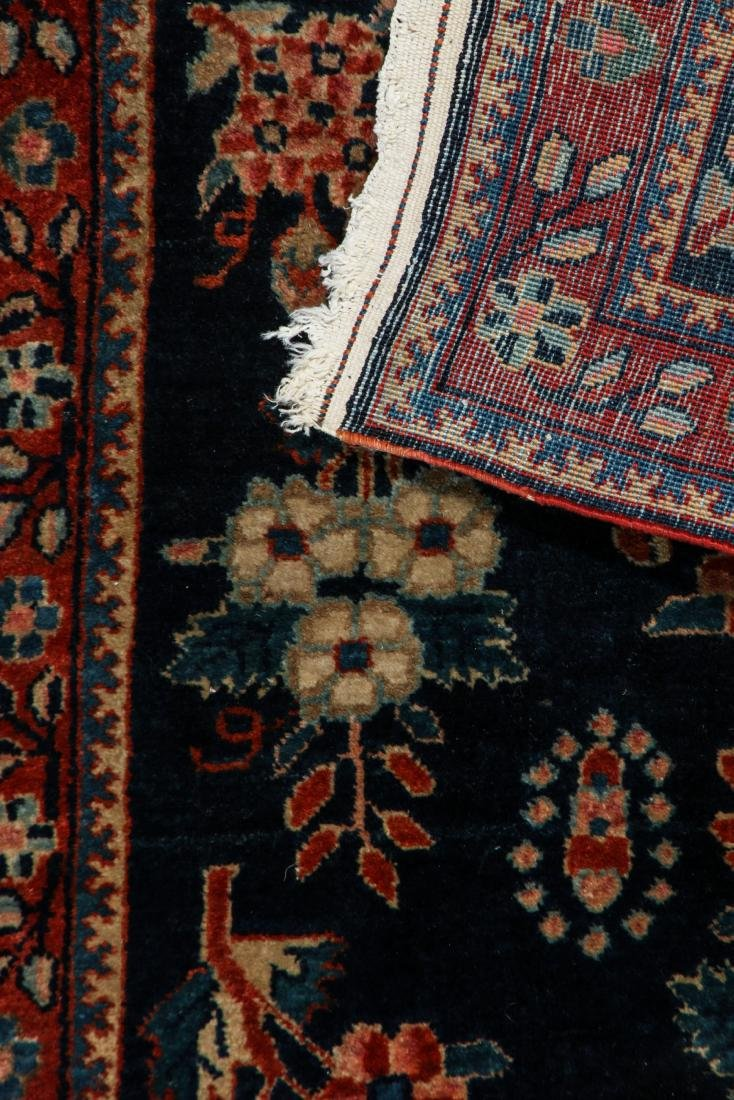 West Persian Floral Rug: 1'8'' x 2'8'' (51 x 81 cm) - 3